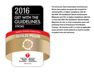get with the guidelines 2016 gold plus award