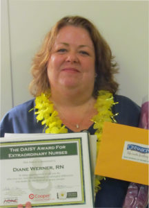 July 2017 Daisy Award winner Diane Werner, RN