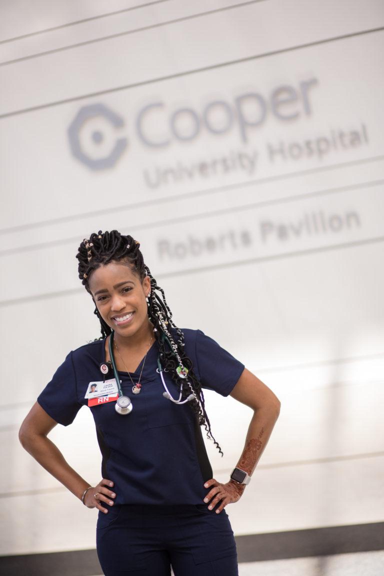 Cooper trauma nurse Laura Tolver, RN