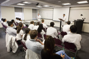 Physicians in training in didactic classroom experience