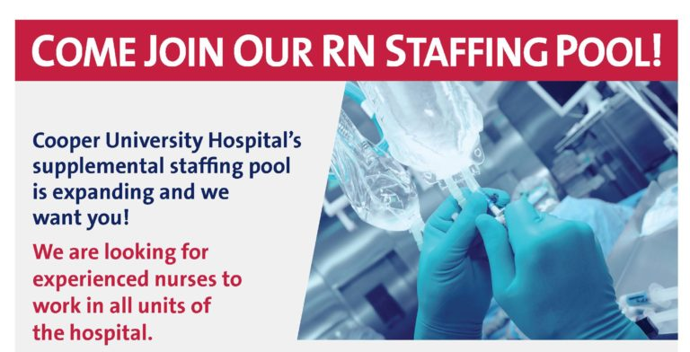 RN Staffing Pool-Floaters Hiring Event Flyer