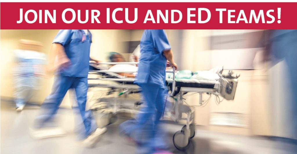 Join our ICU and ED teams