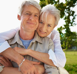 springtime couple