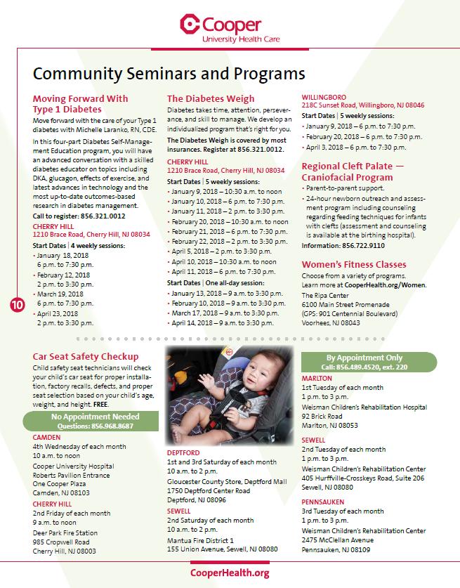 , Winter 2018 Community Seminars and Programs