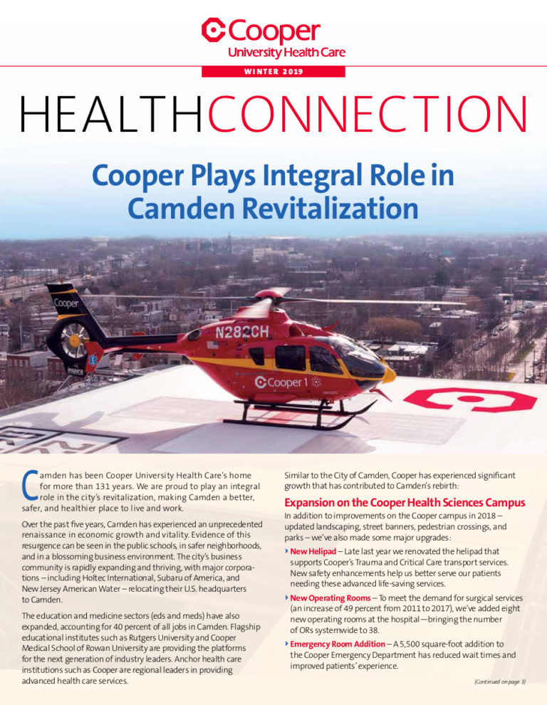 Click here for the Winter 2019 issue of Health Connection.