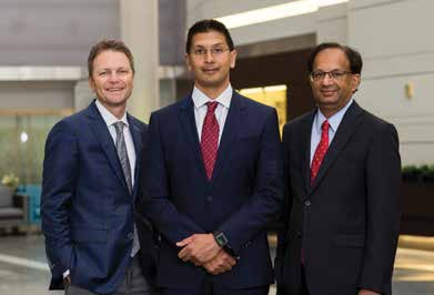 Our Bariatric Surgical Team: (L-R) Brendan G. O'Connell, MD; Rohit A. Patel, MD; and Harish Kakkilaya, MD.