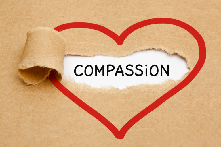 word compassion in heart