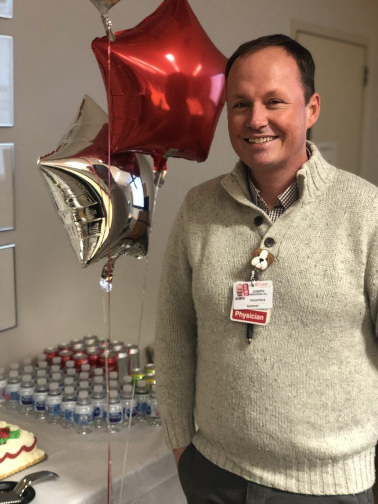 Joseph Anderson, DO, Pediatrics PGY-3, Named Resident of the Quarter