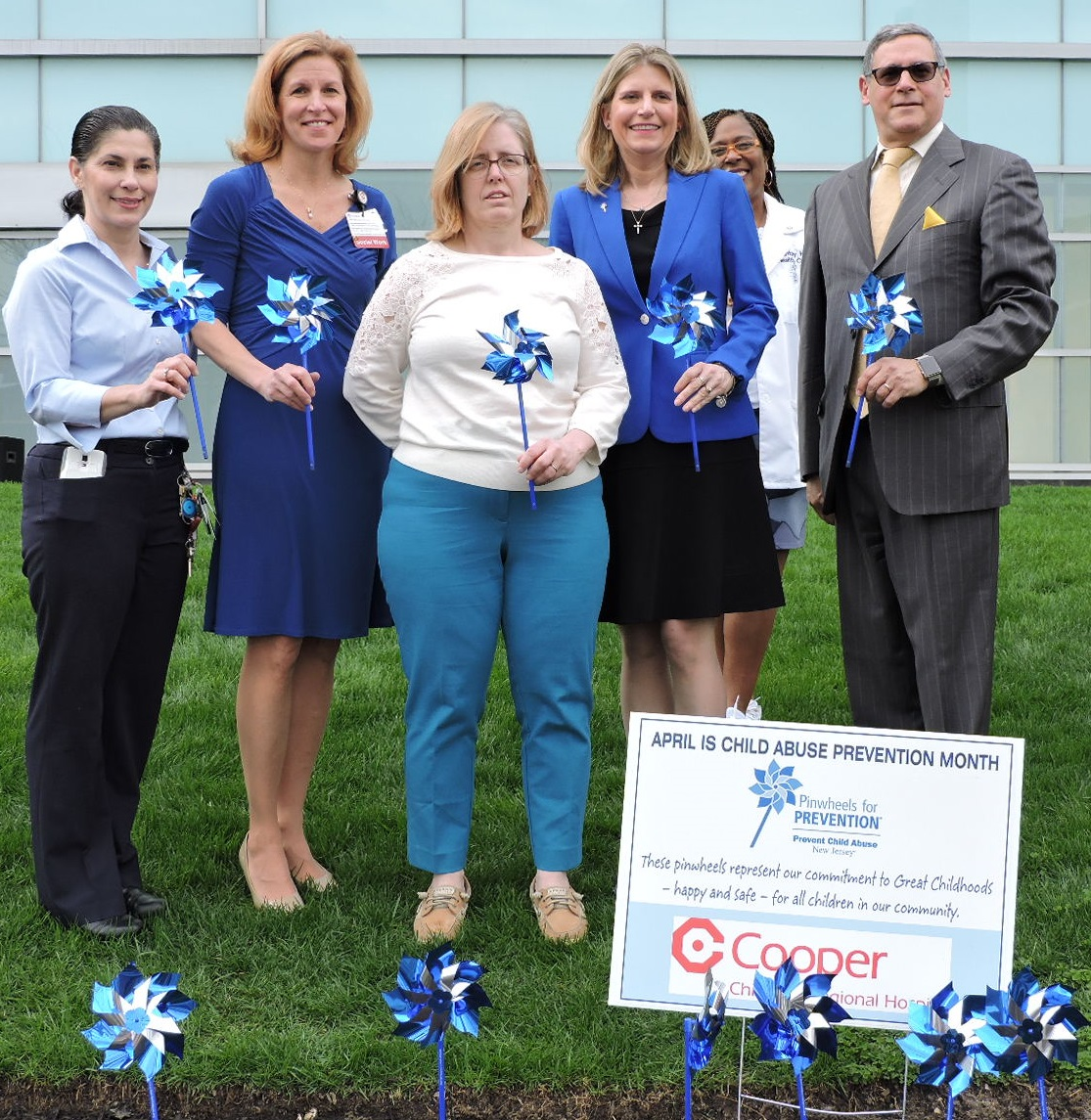 Pinwheels for Prevention group photo at Cooper