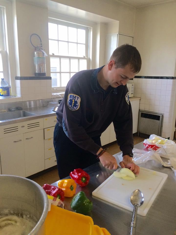 Firefighter Connor Lovretin