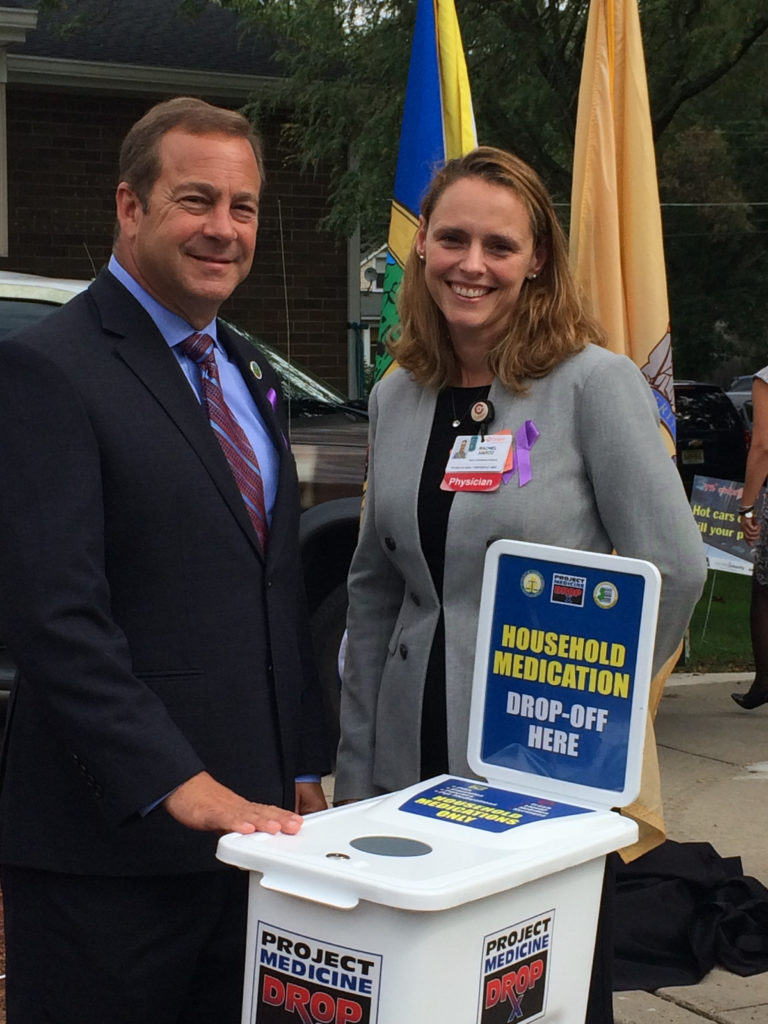 Freeholder Director Louis Capelli and Dr. Rachel Haroz