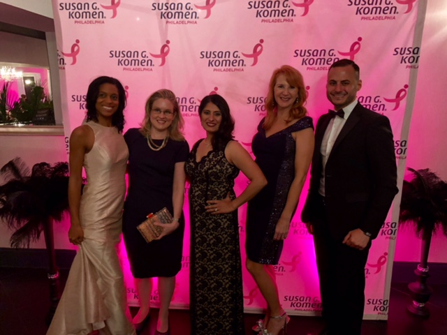 Pictured are: Vivian Bea, MD, breast surgeon, Christina Brus, MD, medical oncologist, Preeti Sudheendra, MD, medical oncologist, Mary Rooney, RN, breast cancer nurse navigator, Kamel Abou Hussein, MD, medical oncologist.