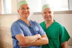 MD Anderson Cancer Center at Cooper physicians Francis R. Spitz, MD, FACS and Umur M. Atabek, MD, FACS.