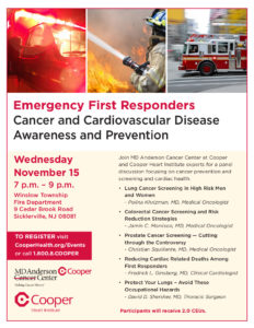 First Responders Invited to Free Cancer, Cardiovascular
