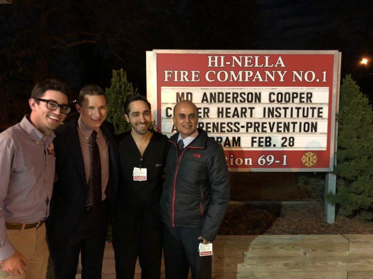 , Cooper Community Health Visits Hi-Nella Fire Company