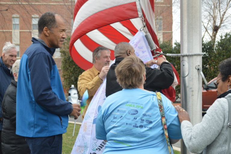 , Cooper Commemorates Organ Donor Awareness Month With Flag Raising and Planting of Pinwheels