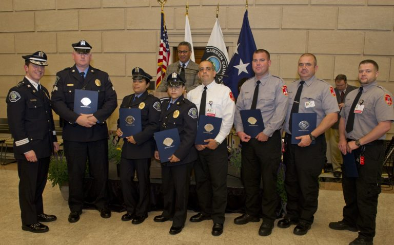 Members of Cooper EMS Team Recognized by Camden County Police Department for Outstanding Work