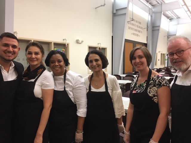 , Cooper Infection Prevention Team Volunteers at Camden's Cathedral Kitchen
