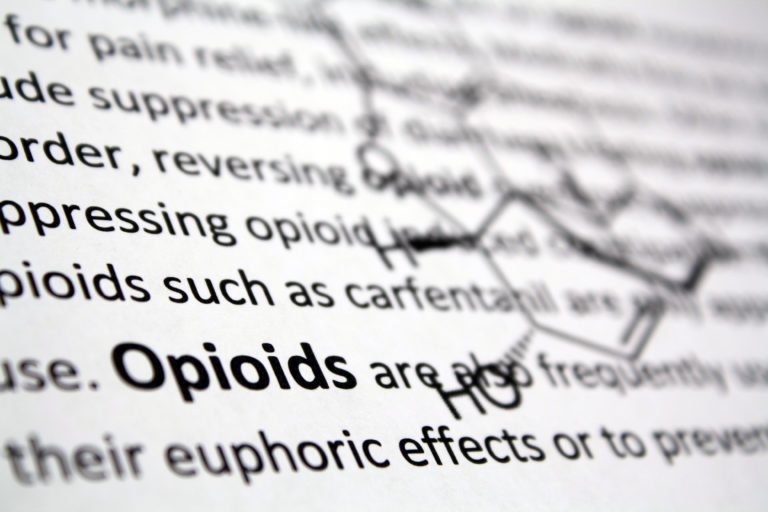Opioid Addiction - text graphic abstract