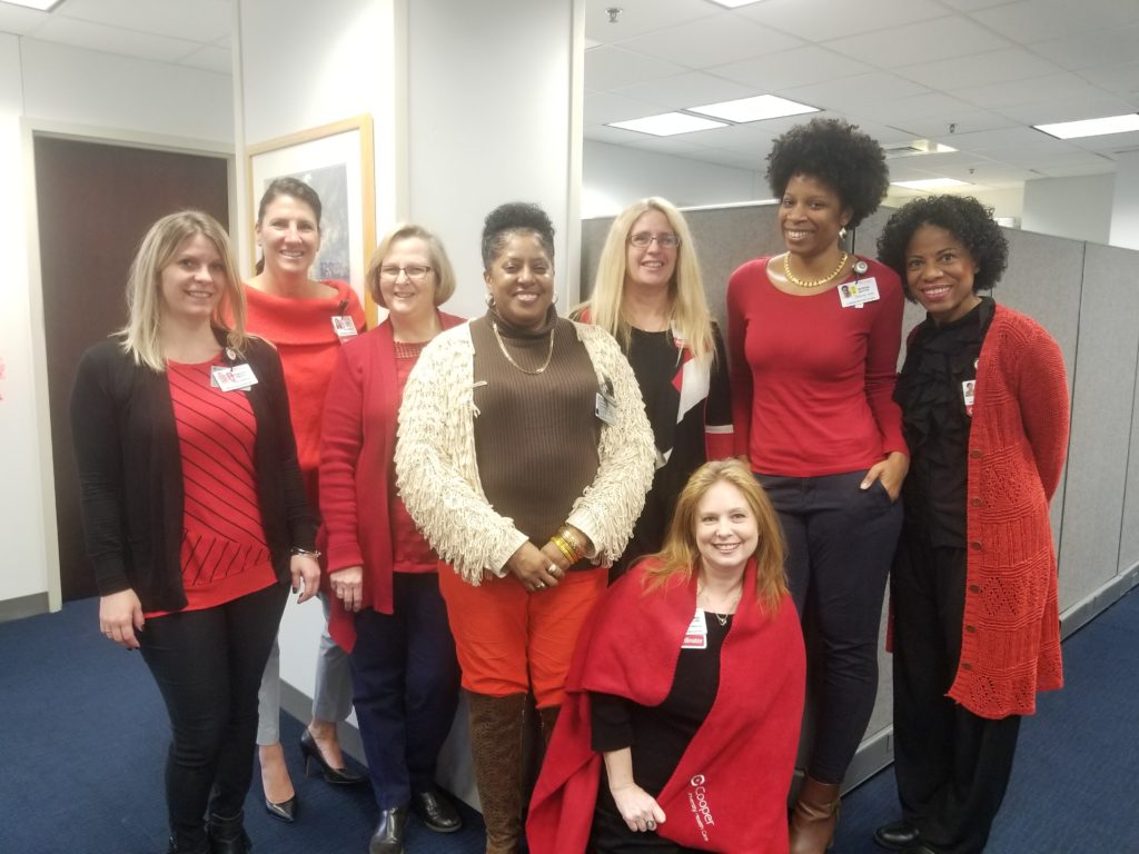 , Cooper Team Goes Red for Heart Month