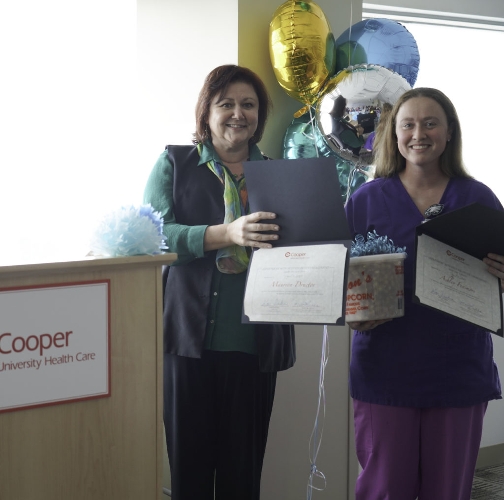 Maureen and Ashley represented Same Day Surgery, which was recognized as the Department with Best Volunteer Engagement.