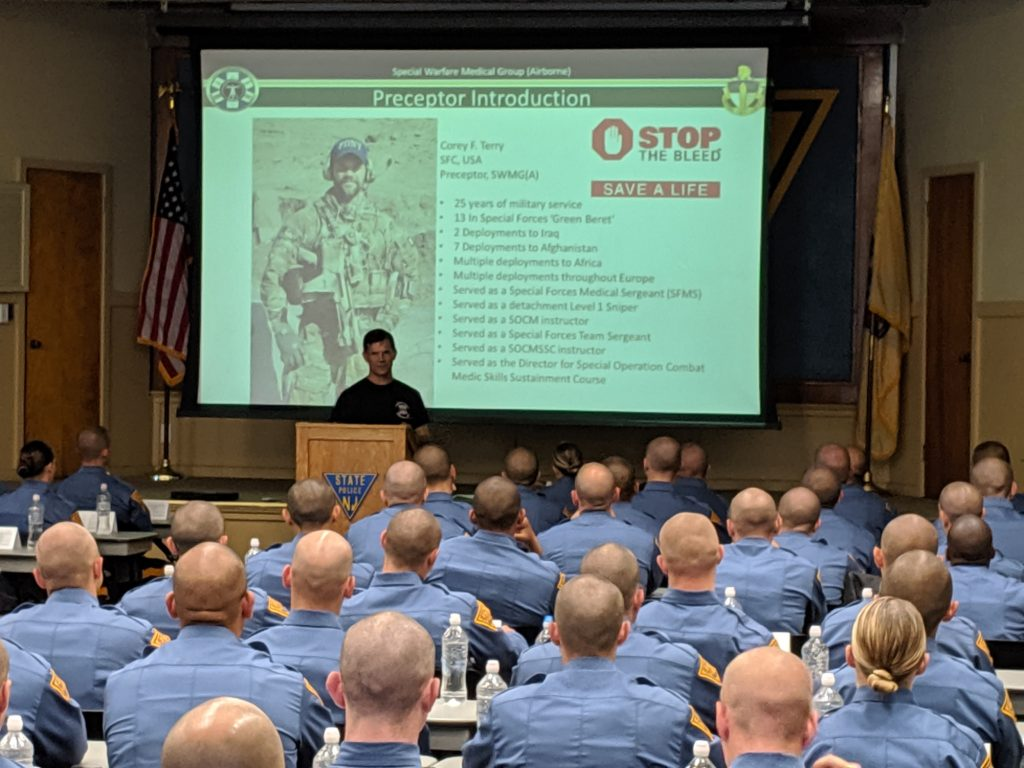 """, Cooper & US Special Operations Combat Medics Teach """"Stop The Bleed"""" to NJ State Police Cadets"""