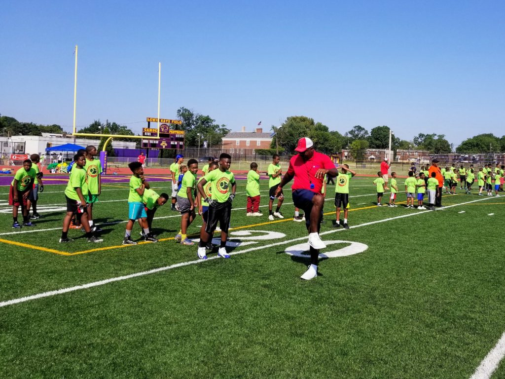, Camden Health & Athletic Association Hosts Free Football Skills & Drills Clinic With Jaws Youth Playbook