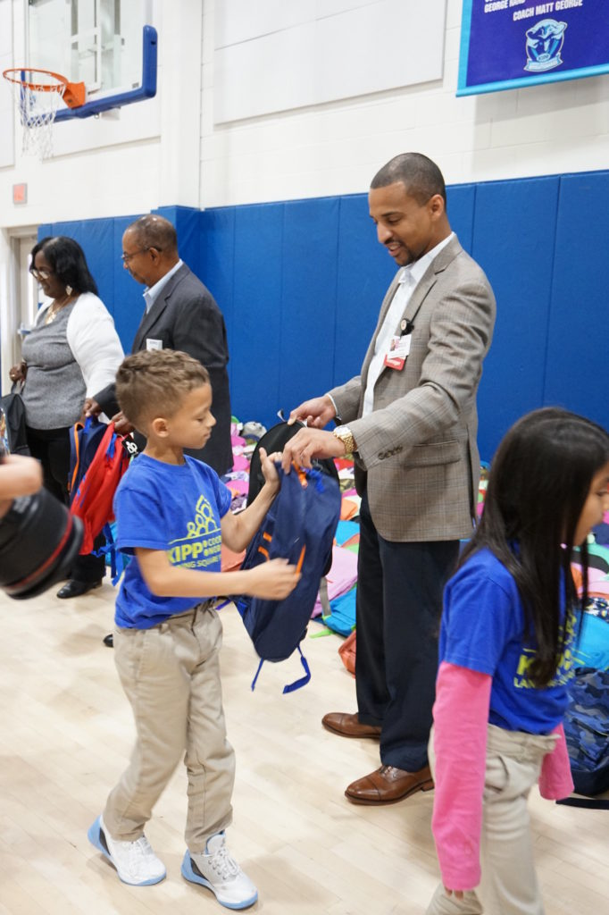 , Cooper University Health Care Employees and The Cooper Foundation Donate Backpacks, School Supplies to Camden Students