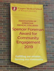 Spencer Foreman Award banner at CMSRU