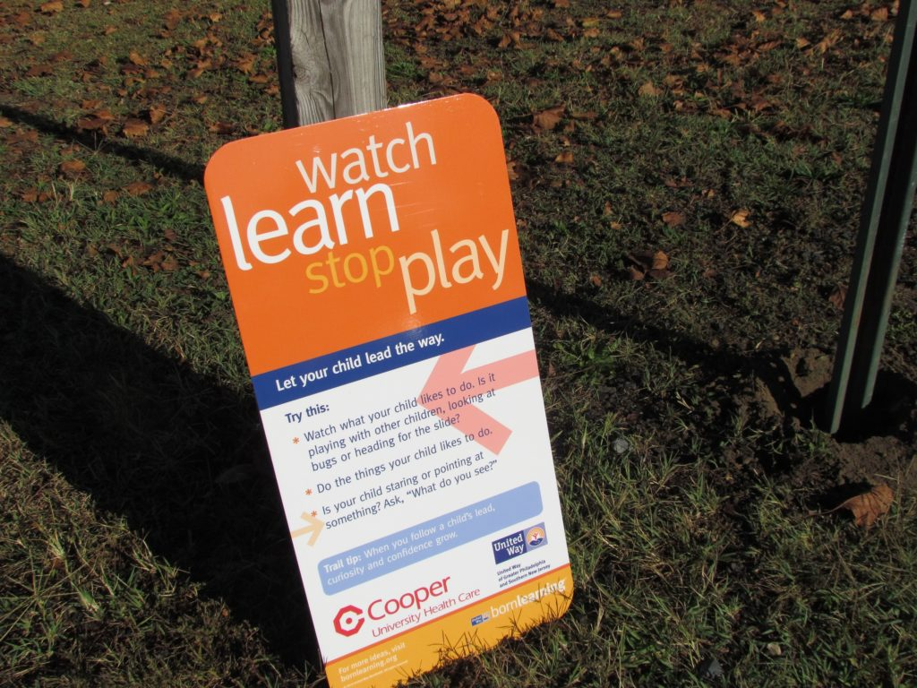 , Born Learning Trail Installed at the William G. Rohrer Children's Playground at Cooper River in Pennsauken