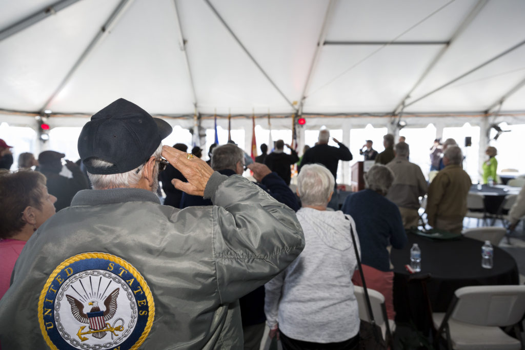 """, More than 350 Veterans and Their Families Attend """"FallFest""""Event Aboard Battleship NJ"""