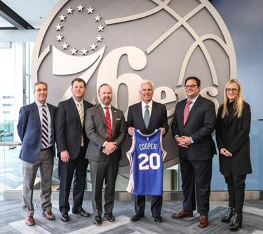 Cooper and 76ers announce community partnership