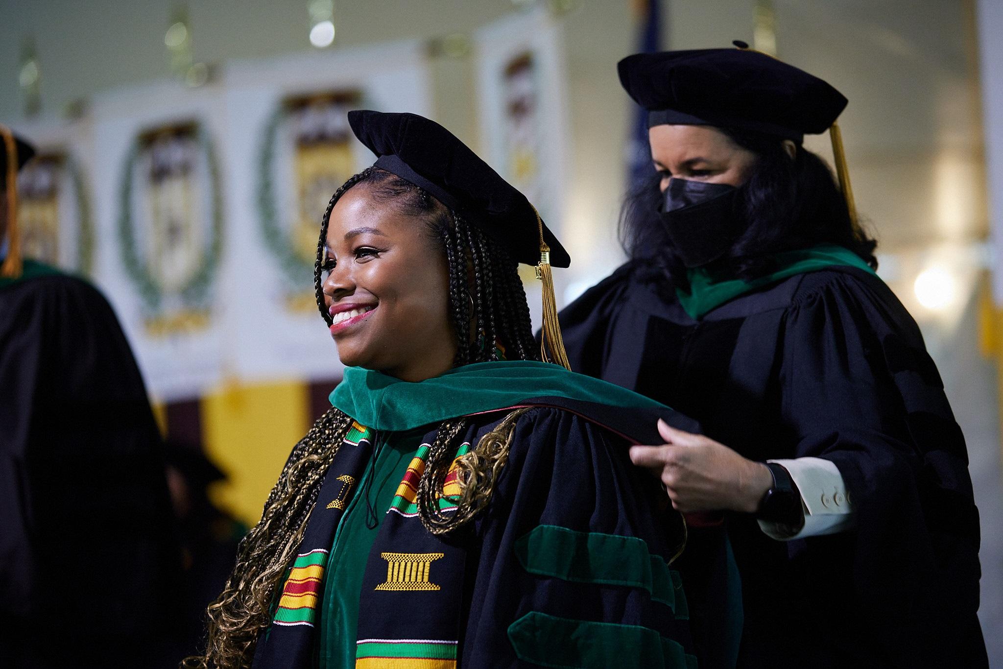 CMSRU graduate receives ceremonial hood
