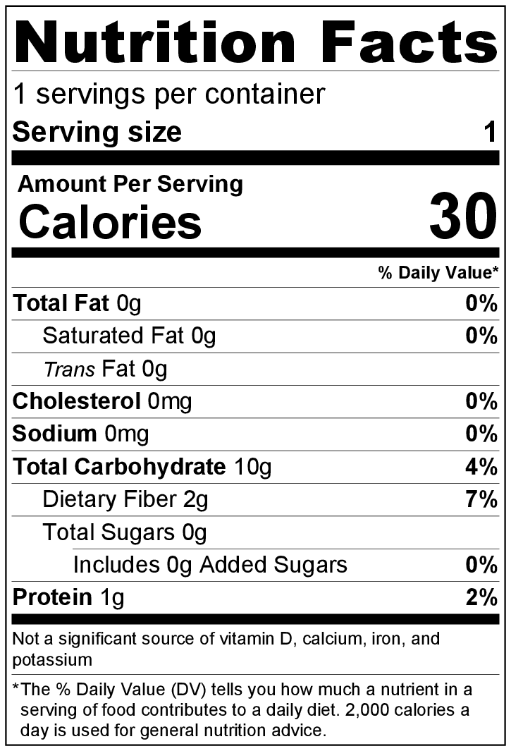 Strawberry Kiwi Spritzer Nutrition Label